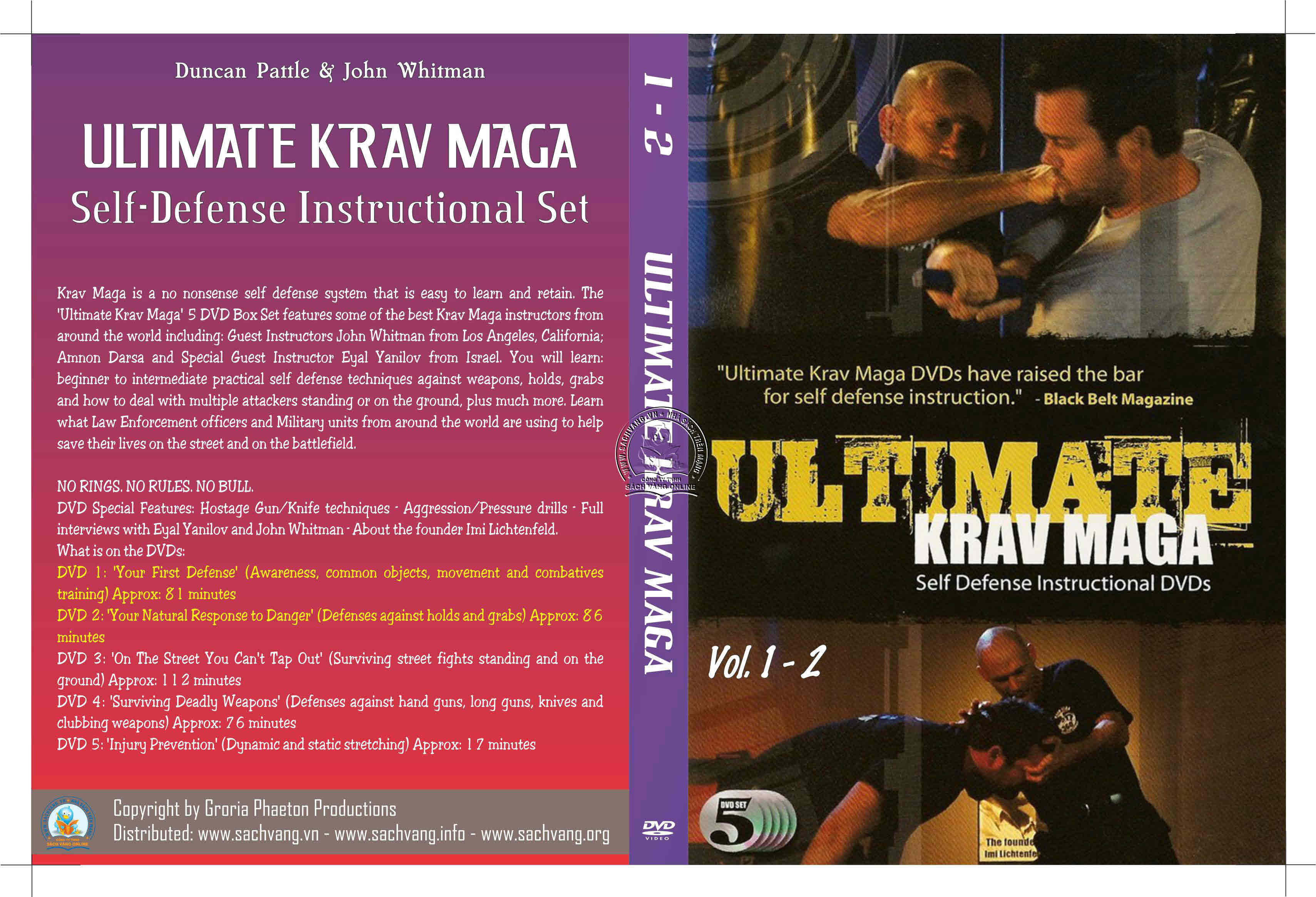 Ultimate Krav Maga Self-Defense Instructional Set cover