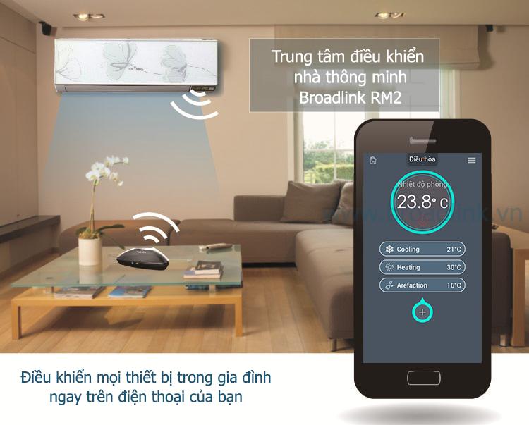 Broadlink RM-Pro có thể điều khiển mọi thiét bị trong nhà bạn qua di động