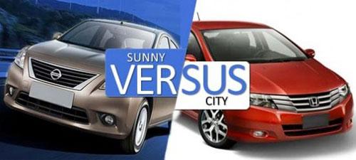 So sánh Honda City và Nisan Sunny