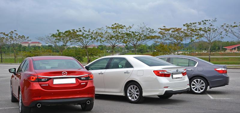 Toyota Camry vs Mazda6 vs Honda Accord