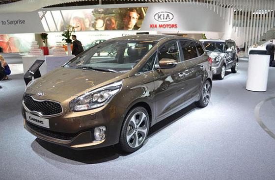 Chiếc MPV Kia Carens cũng có một suất tranh giành giải thưởng xe của năm